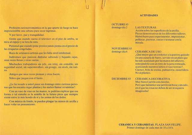 Textos y actividades. PSF. Oct-83